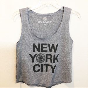 SoulCycle New York City Cropped Tank Small